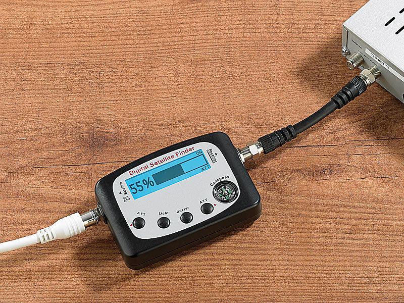 esoSAT Digitaler Satelliten-Finder mit Kompass, LCD ...